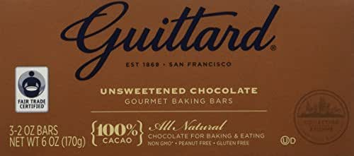 Baking Chips & Chocolate: Guittard Unsweetened Chocolate Baking Bars