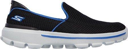 Skechers Boys' Gowalk 3 Unruly Slip On,Black/Royal,US 7 M by Skechers (Image #1)