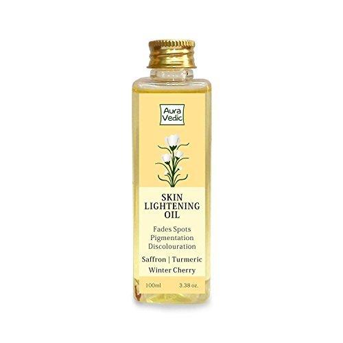 Auravedic Skin Lightening Oil with Saffron, Turmeric and Winter Cherry, 100 ml Lightening Oil