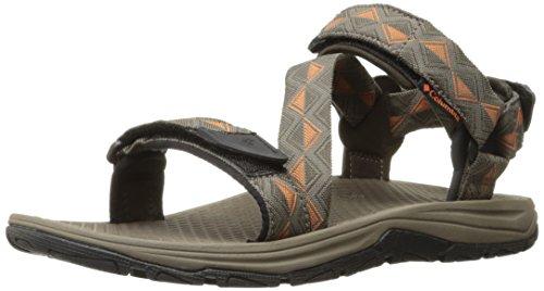 Columbia Men's Big Water Athletic Sandal, Cordovan/Desert Sun, 11 D US