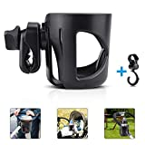 Stroller Cup Holder, Flytaker Cup Holder for Stroller, Universal Baby Bottle Holder with Stroller Hook