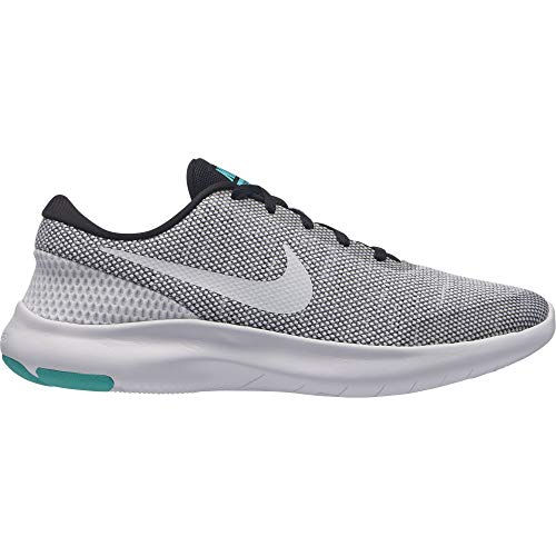 581987c2140b Nike Womens WMNS Flex Experience RN 7 Black White Hyper Jade Size 9.5
