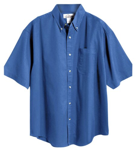 Tri-Mountain men's Peak Performers Big and Tall Woven Shirt French Blue X-Large -