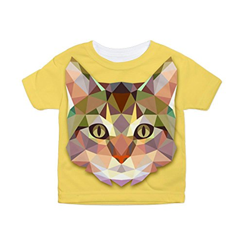 Royal Lion Toddler All Over Print T-Shirt Triangle Cat Kitten - 3T