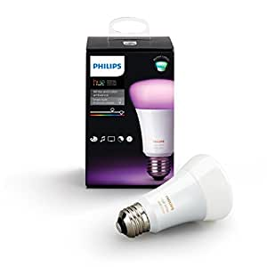 Philips Hue White and Color Ambiance 3rd Generation A19 60W Equivalent Dimmable LED Smart Bulb (Compatible with Amazon Alexa, Apple HomeKit, and Google Assistant)