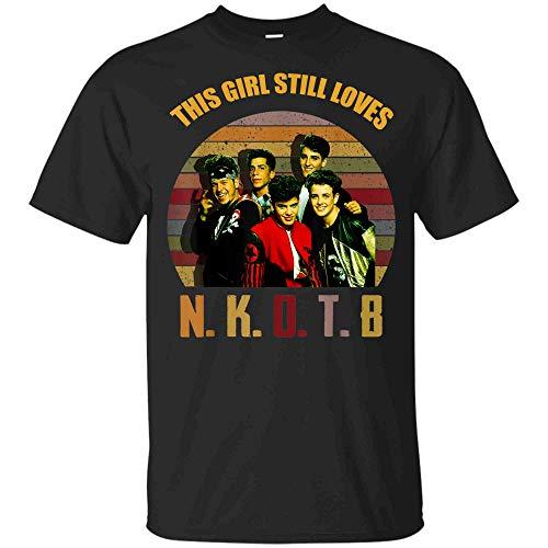 New Vintage Kid-Shirt Gift On-The-Block Shirt (Unisex T-Shirt;Black;L) (New Kids On The Block T Shirts Vintage)