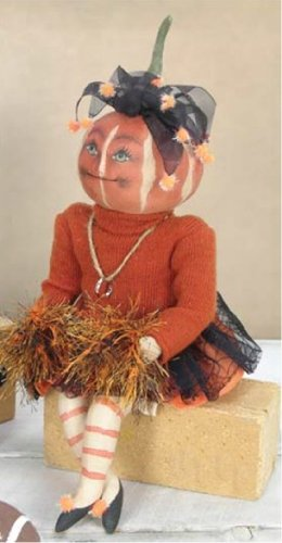 Lucille Pumpkin Soft Sculpture -