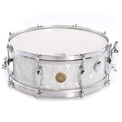 Gretsch USA Custom 5x14 Retro Snare Drum 60's Vintage Marine Pearl