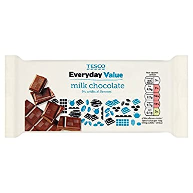 Tesco Everyday Value Milk Chocolate Bar 100g Amazoncouk