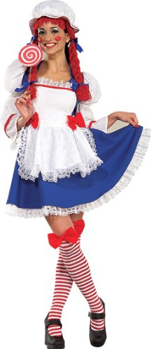 Rag Doll Girl Adult Womens Costumes (Rag Doll Adult Costume - X-Small)