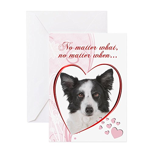Border Collie Note (CafePress - Border Collie Valentine - Greeting Card, Note Card, Birthday Card, Blank Inside Glossy)