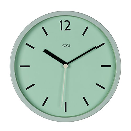 Wild & Wolf Wild Wood Wall Clock, 12 Inch, Swedish Green