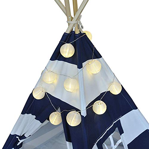 Paper Lantern String Lights, Water Resistant 10+ Feet Long Hanging Camper Lights for RV Awnings, Novelty String Lights, With Mini Decorative Chinese Lanterns Camping Awning Backyard Party Decorations ()