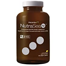 Nutra Sea Fish Oil HP -HIGH POTENCY 3:1 EPA to DHA -(120 Capsules) NutraSea Herring oil by Ascenta Brand: Ascenta Health