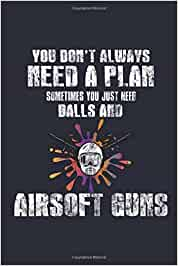 """Aisoft Notebook - Balls and Guns: Paintballing Bullet Journal with 100 Dotted Dot Grid Paper Pages in 6"""" x 9"""" Inch - Composition Book Diary Notepad"""