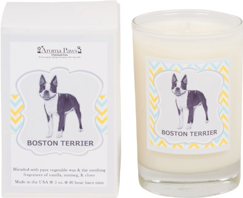 Aroma Paws Breed Candle in Glass with Gift Box, Boston Terrier