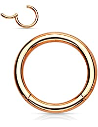 16g 18g Hinged Hoop, titanium anodized 316L Surgical Steel, Cartilage earring, Nose ring, Septum ring 1pc