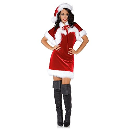 CHSGJY Mrs Claus Costume Womens Sexy Santa Outfit Adult Christmas Fancy Dress X-Large (Mrs Christmas Outfit)