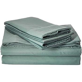 Southshore Fine Linens- 5 Piece - Extra Deep Pocket Pleated Sheet Set, Split King, Steel Blue