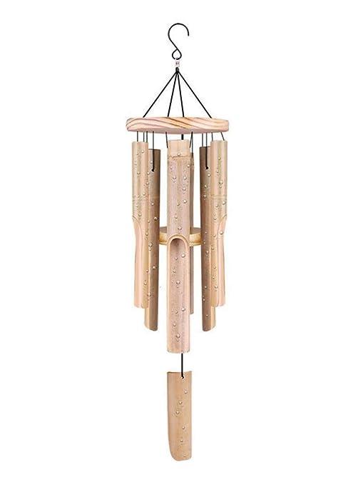 Hangarone Carillón de Viento de bambú Tallado a Mano, jardín ...