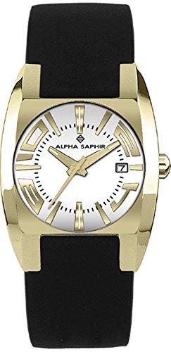 Alpha Saphir 311G - Reloj analógico de caballero de cuarzo con correa de piel multicolor - sumergible a 30 metros