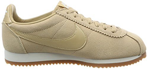 Nike Vrouwen Klassieke Cortez Leer Toevallige Schoen Champignon / Top Wit