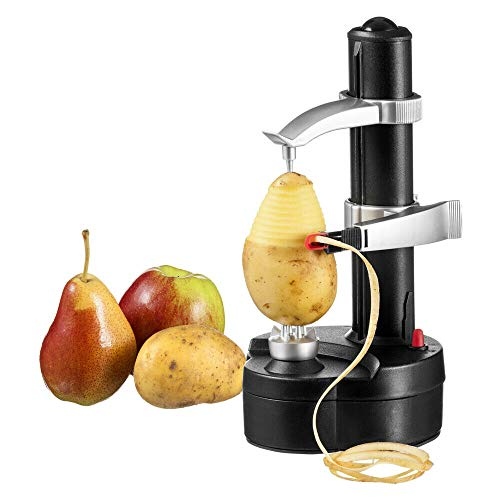 Electric Peeler, Commercial Automatic Potato Apple Orange Pericarp Peeling Machine for Fruit Vegetable Kitchen Peeling Tool - US Shipping
