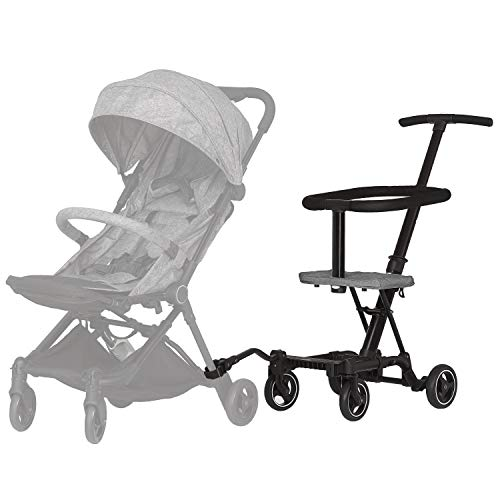 41S7nG%2Bt8YL - Dream On Me, Coast Stroller Rider, Lightweight, One Hand Easy Fold, Travel Ready, Strudy, Adjustable Handles, Soft-ride Wheels, Easy To Push, Gray