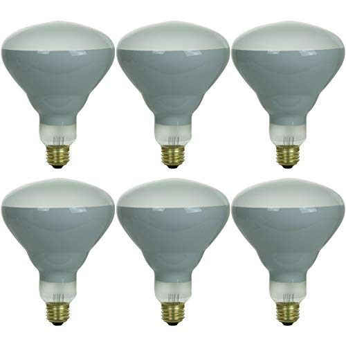 Sunlite 41393-SU BR40 Flood Light Bulb, 65 Watts, 130 Volts, Medium Base (E26), Dimmable, 550 Lumen, 2,000 Hours Life Span, Indoor/Outdoor Use, Frost, 6 Pack, 32K - Warm White