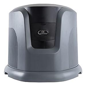 AIRCARE EA1201 Digital Whole-House Console-Style Evaporative Humidifier, Mini, Silver and Black Design