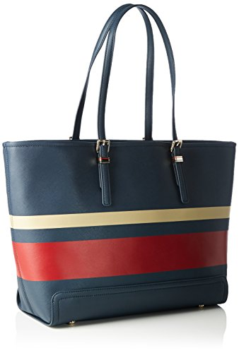 Tommy HilfigerHoney Ew Stripe - Sacchetto donna Multicolore (Mehrfarbig (Midnight / Scooter Red / Oatmeal 901 901))