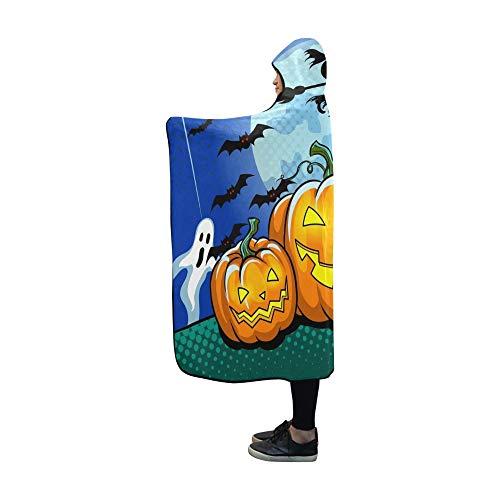 WUTMVING Hooded Blanket Halloween Theme Pop Art Retro