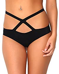 Iheartraves Black Wrap Around Scrunch Back Low Rise Booty Shorts Bottoms Small Medium