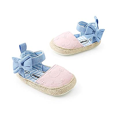 CoKate Baby Infant Boy Girl Prewalker Toddler Stripe Bow Shoes