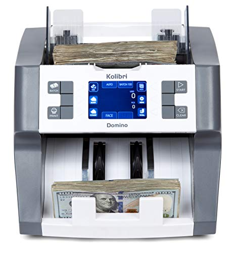 (Kolibri Domino Bank Grade Mixed Denomination Money Counter Machine Cash Counter Bill Counter and Bill Reader with UV,MG,IR Counterfeit Detector)