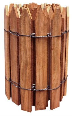 Greenes Fence RC24B Trim Fence, Gothic Top, Cedar Stain, 16-In. x 12-Ft. - Quantity 4