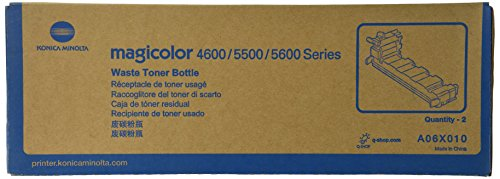Konica Minolta A06X010 Toner Waste Bottles 2-Pack For magicolor 4650 Series Printers (Series 4650)