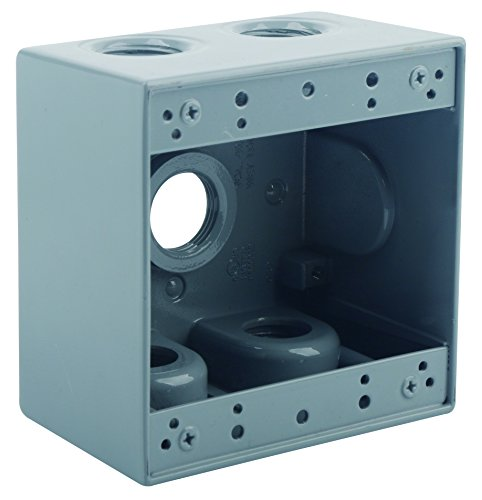 WEATHERPROOF BOXES OPTION for Outlets; Deep; Single, Two Gangs; 3, 4, 5, 7 Holes (1/2