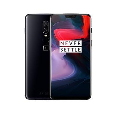 OnePlus 6 Smartphone 8GB RAM, 128 GB Memoria (non espandibile), OxygenOS basato su Android Oreo, Doppia fotocamera 16MP + 20MP, Dual SIM, Nero (Mirror Black)