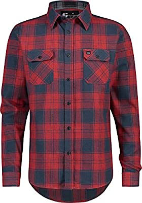 Jolt Gear Dry FIT Flannel Shirt for Men - Long Sleeve Button Down Flannels - Men's Plaid Fleece Dress Shirts with 4-Way Stretch Fabric and Moisture Wicking Technology