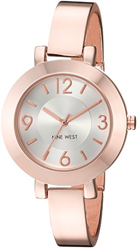 Gold Crystal Watch Color Links (Nine West Women's Quartz Metal and Alloy Dress Watch, Color:Rose Gold-Toned (Model: NW/1630PKRG))