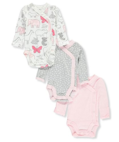 Carter's Baby Girls' 3-Pack Side Snap Bodysuits Newborn (Baby Three Pack Bodysuits)