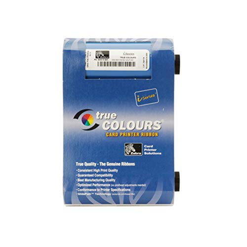 800015-940 True Colours Ribbon, fit for Zebra P110i P120i ID Card Printer, YMCKO 200 - Printer P100i Color Card