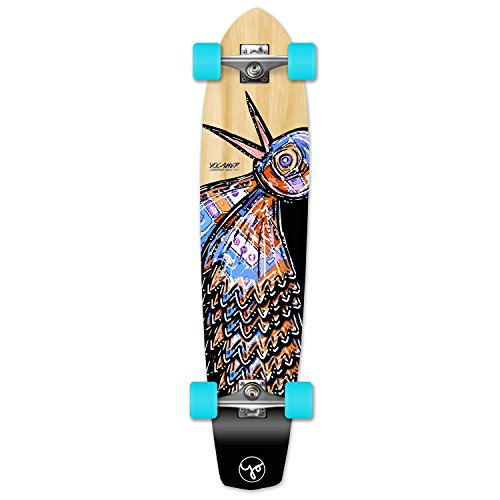 (Yocaher The Bird Series: Natural Longboard Complete Skateboard - Available in All Shapes (SlimKick))
