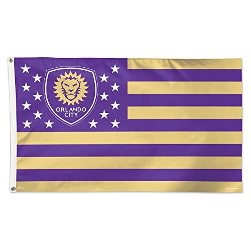 fan products of SOCCER Orlando City SC 11197115 Deluxe Flag, 3' x 5'