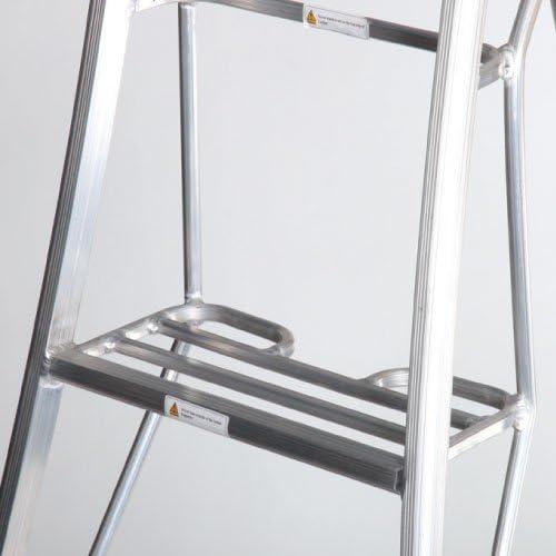 Henchman - Escalera de jardín con trípode de Henry (2,4 m) Las 3 patas son totalmente ajustables. Escalones de plataforma de jardín para recortar los bordes, podar árboles y recoger frutas: Amazon.es: