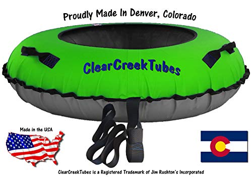 Winter Sports Sleds & Snow Tubes Towable Colossal 54 Inflated ClearCreekTubes Snow Tube Combo Black/Gray