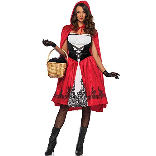LOVELONG XL Europe and America Halloween Cloak Little Red Riding Hood Costume Cosplay Role Playing Game Uniform (XXXL, Red)