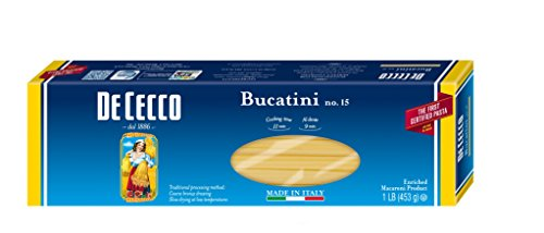 De Cecco Pasta, Bucatini, 16 Ounce (Pack of 5) (Pasta Cecco compare prices)