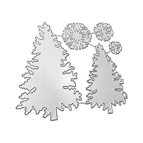 WOCACHI Christmas Tree Cutting Dies Card Making Stencils Scrapbooking Embossing Mould Handicrafts Xmas Decor Paper Cards Template C -